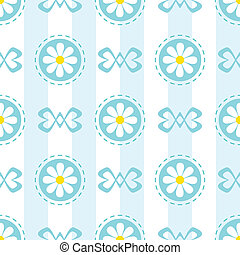 Pastel Seamless Pattern with Camomiles