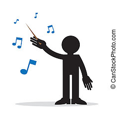 Music Conductor - Music conductor with musical notes