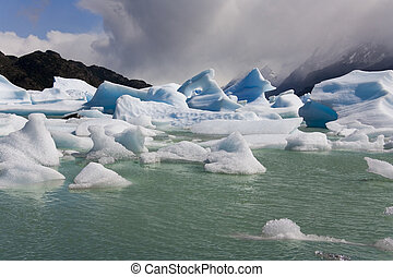 Icebergs - Largo Grey - Patagonia - Chile - Icebergs from...