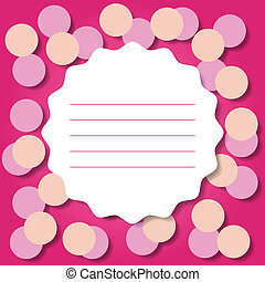 Invitation or Greeting Card Template