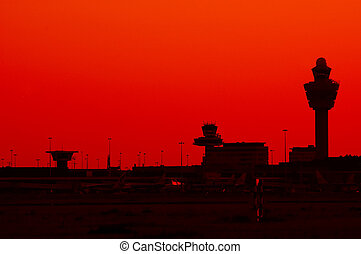 silhouette airport