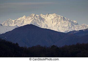 Snow-capped mountain monte rosa