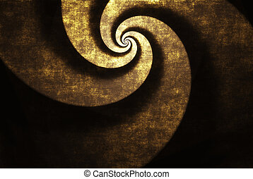 Golden twister - Grunge golden twister background, texture