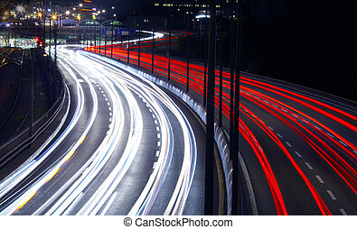 Light Trails - Light trails from cars i Stockholm