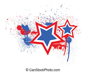 Stars - 4th of July Vector