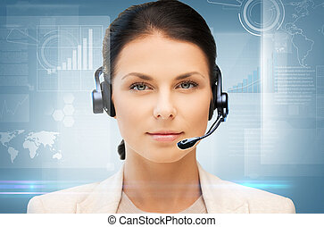 helpline - business, office, technology, future concept -...
