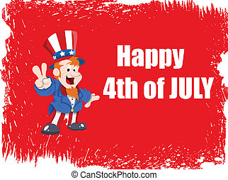 4th of July - Uncle Sam Background