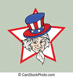 Uncle Sam - 4th of July Vector - Drawing Art of Uncle Sam -...