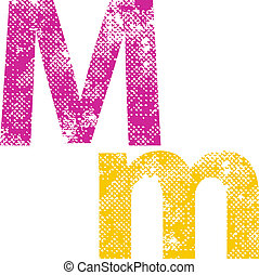 Multicolored grunge letters. - Multicolored grunge letters...