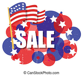 4th of July Sale Flag Background - Drawing Art of Sale - 4th...