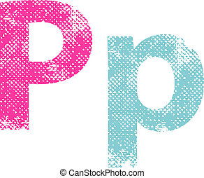 Multicolored grunge letters - Multicolored grunge letters...
