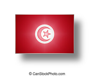 Flag of Tunisia stylized I - National flag and ensign of...