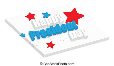 Happy President Day 3d Text Vector - Drawing Art of Happy...