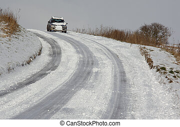 Winter Driving - North Yorkshire - England - Winter driving...