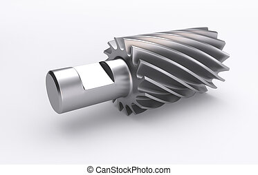 industry milling cutter - 3D Illustration of the rendered...