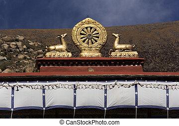 Mandela, -, Drepung, monastère, -, Tibet