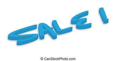 3d Sale Text Vector