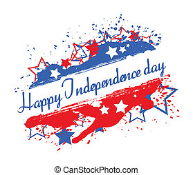 Independence Day Splash Banner - Drawing Art of banner - 4th...