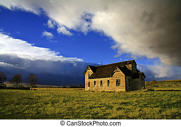 A Glorious Past - Ancient Schoolhouse dreaming alone and...
