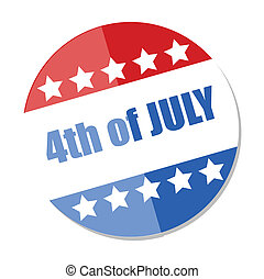 4th of July - Festival Badge Vector - Drawing Art of Badges...