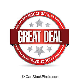great deal seal illustration design over white