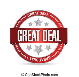 great deal seal illustration design over white