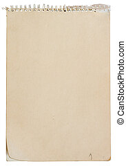 Note pad with spiral binding - Blank note pad with spiral...