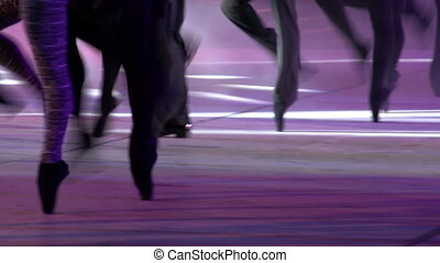 Ballet Show - Ballet dancers perform synchronized movements...