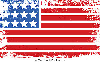 Abstract 4th of July Flag Banner