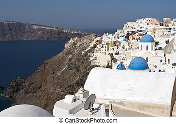 Oia village at Santorini island.