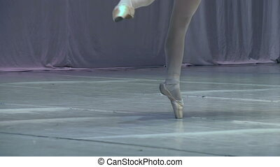 Ballerina on Stage - Slow Motion at a rate of 240 fps....