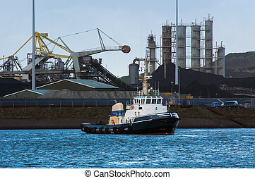 tugboat and industry