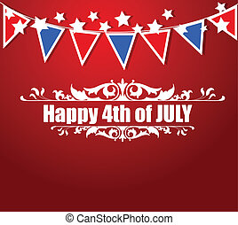 4th of July Festival Templates - Drawing Art of Greeting -...