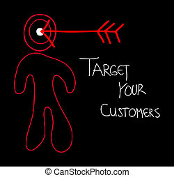 target your customers - text target your customers made in...