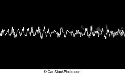 Acoustic waves on the screen - Loopable hidef video...