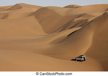 Sand Dunes in the Namib Desert in Namibia - The Sand Dunes...