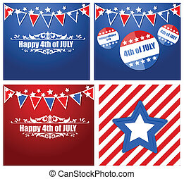 4th of July Vector Backgrounds