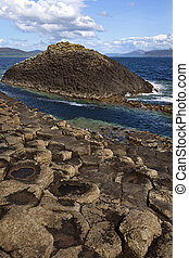 Staffa - Treshnish Islands - Scotland - Basalt rock...