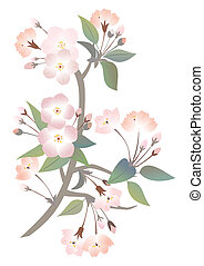 Abstract apple tree branch - Illustration of abstract apple...