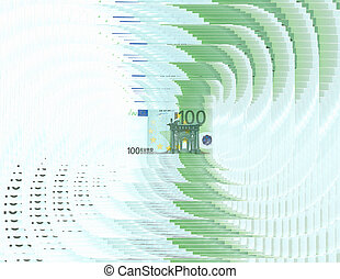 abstract 100 euro background