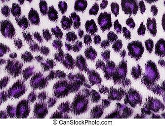 豹, 列印, 紫色