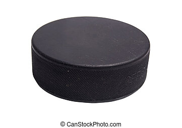 isolated hockey puck