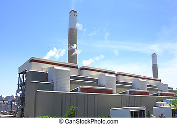 Exterior of industrial plant