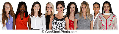 Group of Women - Women of all different races together on a...