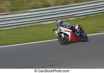 motorbike racing - Motorbike racing in circuit