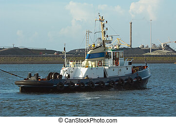tugboat - a tugboat in the harbor