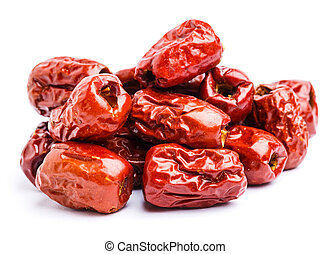 Red jujube isolated on white
