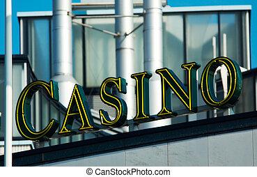 casino - the word casino on a casino in amsterdam