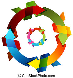Knotted Circle Arrow - An image of a 3d knotted circle arrow...