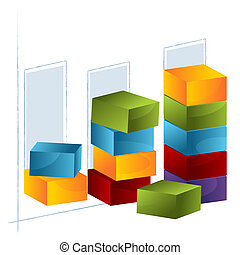 Bar Chart - An image of a 3d bar chart.